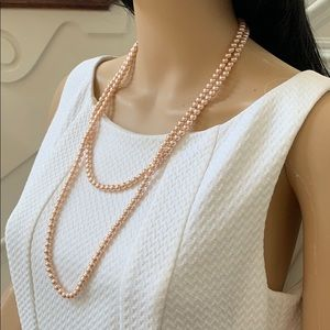 Jewelry - FINAL PRICE Real pearl necklace red peach color